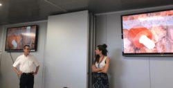 Vicenç Rodriguez, CEO, y Aida Rodriguez, Directora de Medio-Ambiente, durante la presentación
