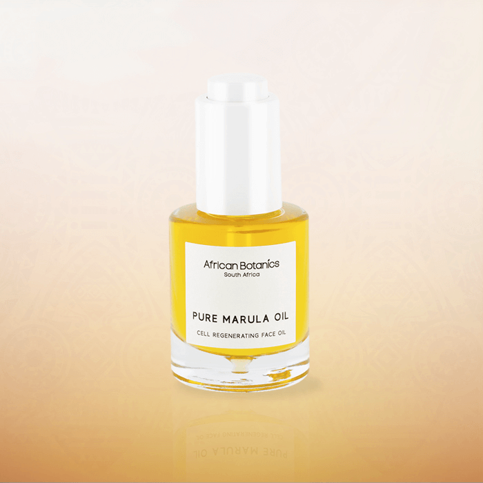 PURE MARULA OIL, FROM AFRICAN BOTANIC´S IN A FULL PACK MADE IN VIROSPACK, BARCELONA