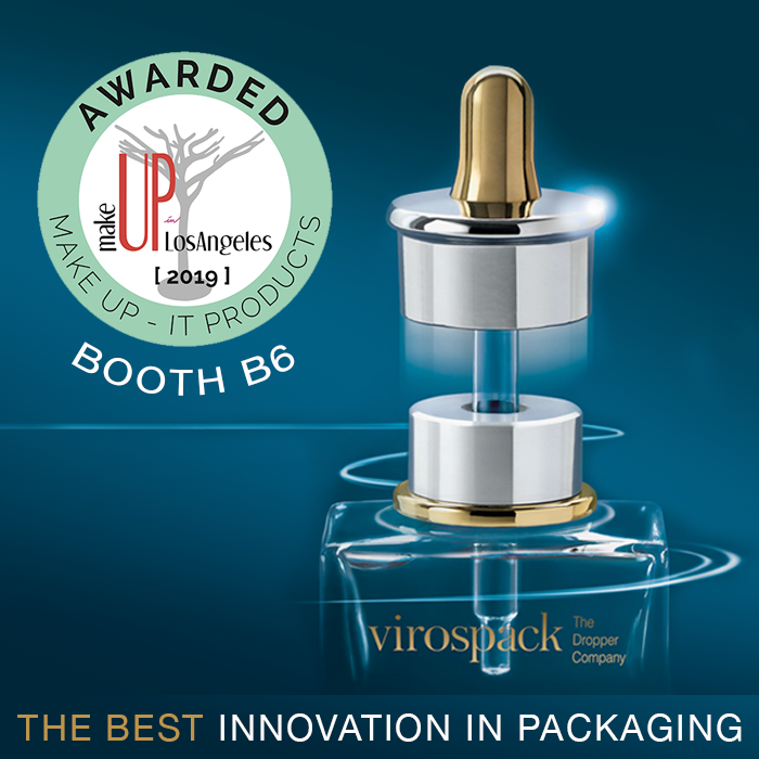 NEW AWARD FOR THE MAGNETIC DROPPER of VIROSPACK,  THE BEST INNOVATION IN PACKAGING 2019