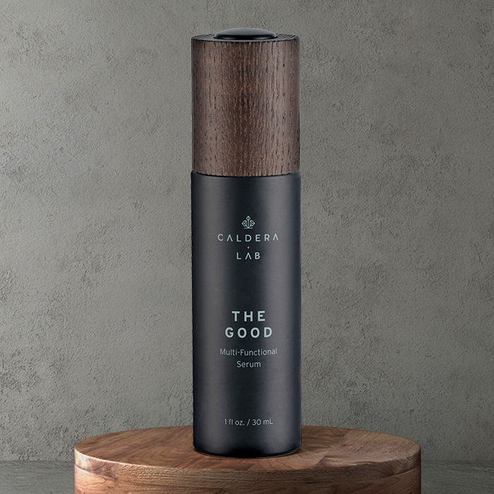 Caldera + Lab, the men's skincare brand made in the USA, trusts in the wood and the black colour