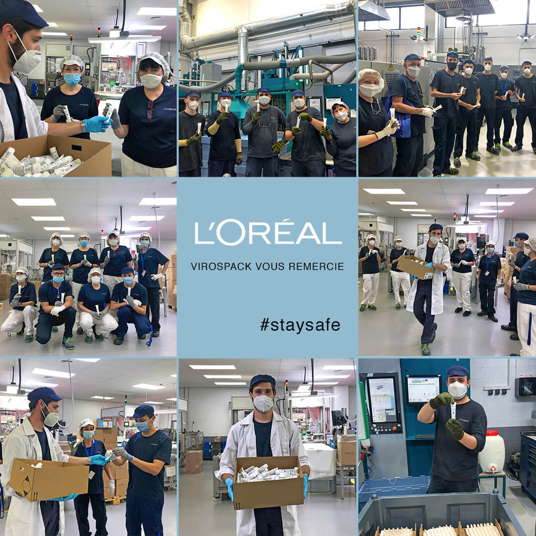 VIROSPACK THANKS L'ORÉAL FOR ITS CONTRIBUTION IN THE PROTECTION OF OUR  EMPLOYEES